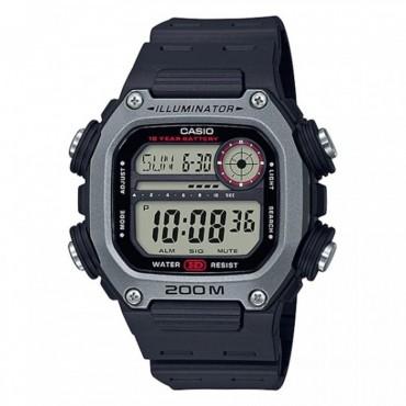 Casio Men's Multi Alarm Chrono Digital Black/Red Watch