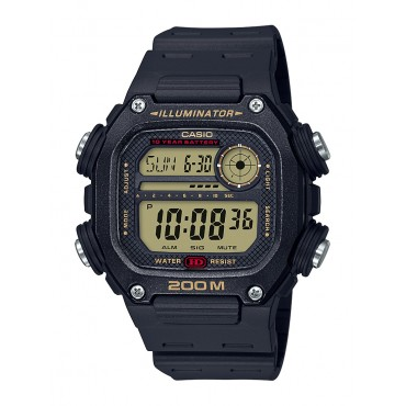 Casio Men's Multi Alarm Chrono Digital Black Watch