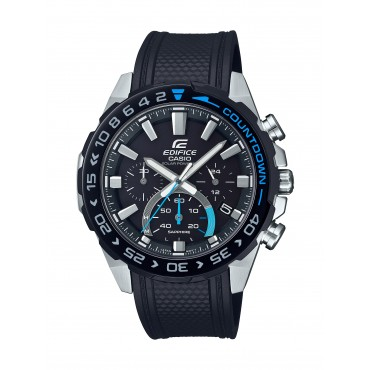 Casio EFSS550PB-1A Edifice Black Strap Watch