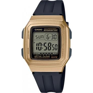 Casio Men's F201WAM-9A Classic Digital Black/Gold Watch