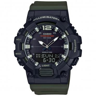 Casio Men's 'Classic' Quartz Resin Casual Watch, Color Green (Model: HDC-700-3AVCF)