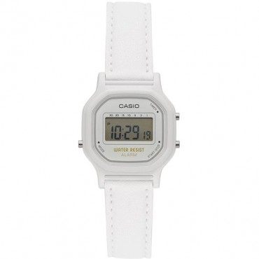 Casio Women's 'Classic' Quartz Resin Casual Watch, Color White (Model: LA-11WL-7ACF)