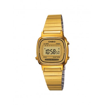 Casio Women's Gold Stainless Steel Digital Watch