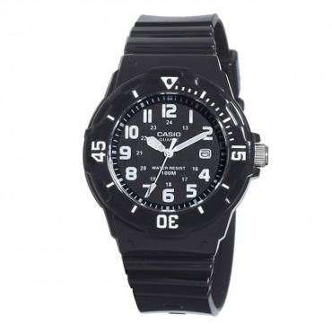 Casio Women's LRW200H-1BVCF Classic Analog Japanese Quartz Black Resin Watch