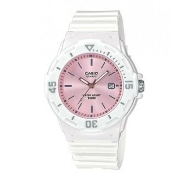 Casio Women's LRW200H-4E3V Standard Analog White Resin Band Watch