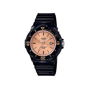 Casio Women's LRW200H-9E2V Black Resin Band Watch
