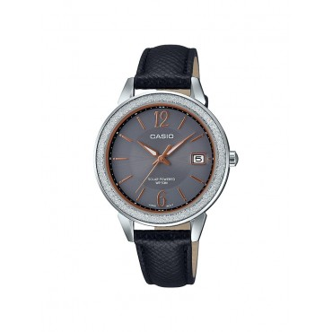 Casio Women's Black Leather Bracelet Watch