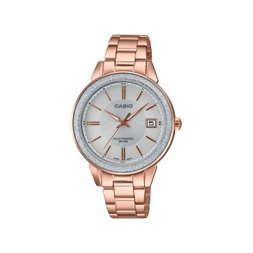 Casio Women's Rose Gold-Tone Stainless Steel Bracelet Watch