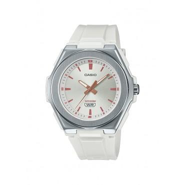 Casio Ladies LWA300H-7EV Stainless Analog White Resin Strap Watch