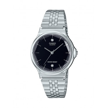 Casio Authentic Diamonds Vintage Digital Stainless Steel Watch