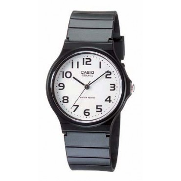 Casio Mens Analog Watch with Black Resin Band