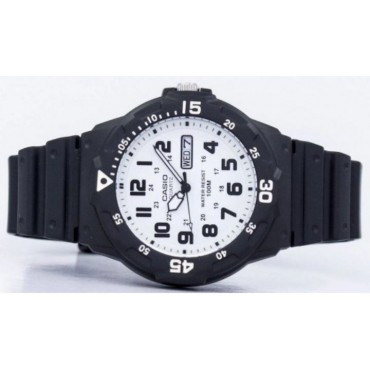 Casio Men's 'Classic' Quartz Resin Watch, Color Black (Model: MRW200H-7BV)