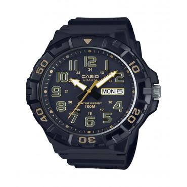 Casio Men's 'Diver Style' Quartz Resin Casual Watch, Color Black (Model: MRW-210H-1A2VCF)