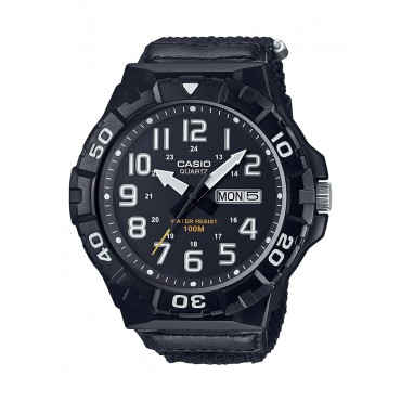 Casio Men's MRW210HB-1BV Outdoor Analog Black Nylon Watch