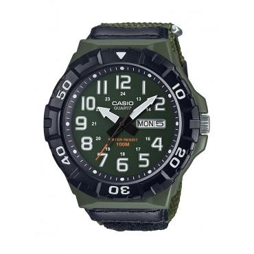 Casio Men's MRW210HB-3BV Outdoor Analog Green Nylon Watch