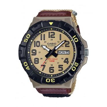 Casio Men's MRW210HB-5BV Outdoor Analog Tan Nylon Watch