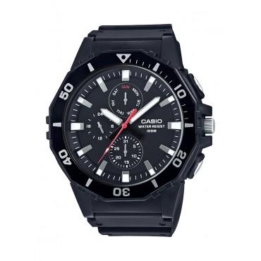 Casio Men's 'Sports' Quartz Resin Casual Watch, Color Black (Model: MRW-400H-1AVCF)