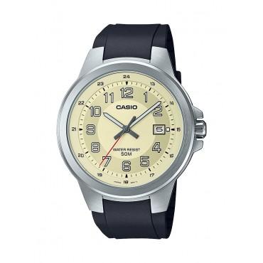 Casio Men's MTPE190-9BV Military Analog Black Resin Strap Watch