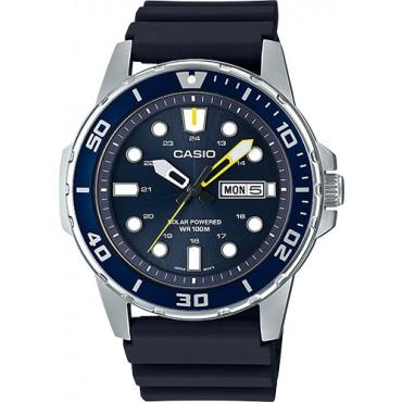 Casio Men's Stainless Steel Quartz Blue Dial Watch
