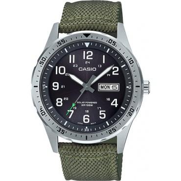 CASIO MTPS120L-3AV Diver Inspired Solar Analog Watch