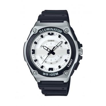 Casio Mens Resin band Silver bezel Sport Watch