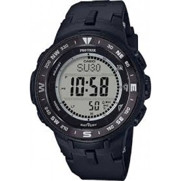 Casio Men's 'Pro Trek' PRG330-1 Black Quartz Resin Watch