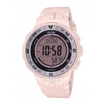 Casio Women's 'Pro Trek' Quartz Pink Resin Watch
