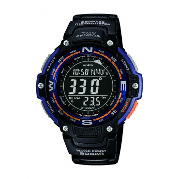 Casio Mens Twin Sensor Digital Display Quartz Black Watch