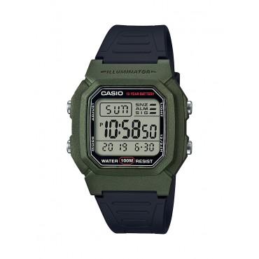 Casio Men's Dual Time Digital Olive/Black Watch