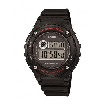 Casio Unisex W-216H-1AVCF Illuminator Black Watch
