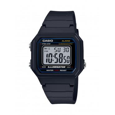 Casio Men's 'Classic' Quartz Resin Casual Watch, Color Black (Model: W-217H-1AVCF)