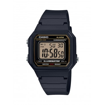 Casio Men's 'Classic' Quartz Resin Casual Watch, Color Black (Model: W-217H-9AVCF)