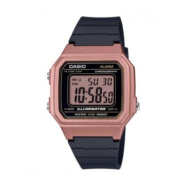 Casio Men's Classic Digital Watch, Rose Gold/Black