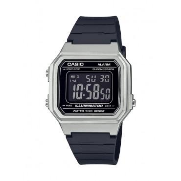 Casio Men's Classic Digital Watch, Silver/Black
