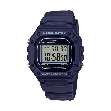 Casio Men's W218H-2A Blue Digital Watch