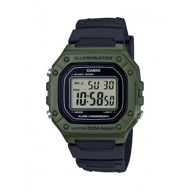 Casio Men's W218H-3A Green Digital Watch