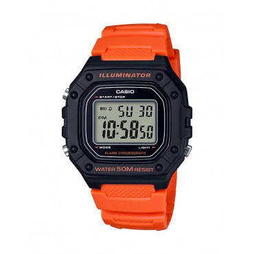 Casio Men's W218H-4B2 Red Digital Watch