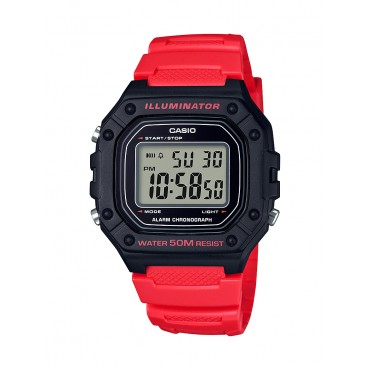 Casio Men's W218H-4B Orange Digital Watch