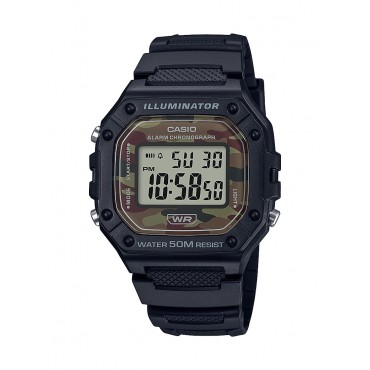 Casio Men's Classic Digital Watch with Camo Dial