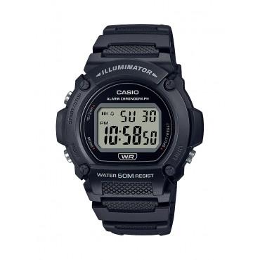 Casio Men's W219H-1AV Heavy Duty Digital Black Resin Sport Watch