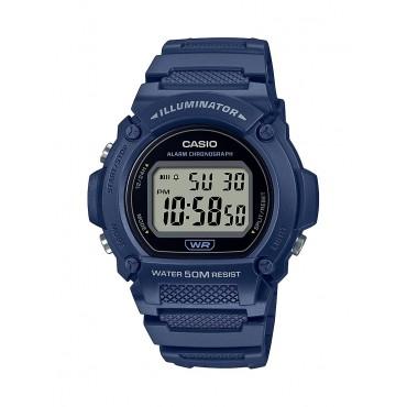 Casio Men's W219H-2AV Heavy Duty Digital Blue Resin Sport Watch