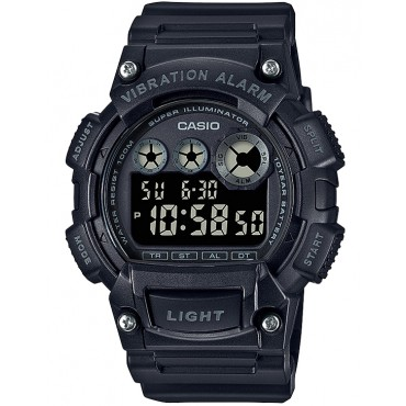 Casio Men's Quartz Watch with Resin Strap, Black, 38 (Model: W-735H-1BVCF)