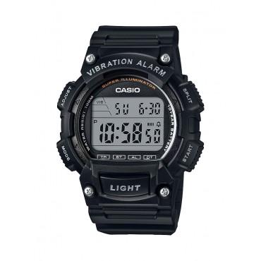 Casio Men's 'Super Illuminator' Quartz Resin Casual Watch, Color:Black (Model: W-736H-1AVCF)