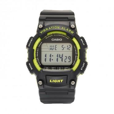Casio Men's 'Super Illuminator' Quartz Resin Casual Watch, Color:Black (Model: W-736H-3AVCF)