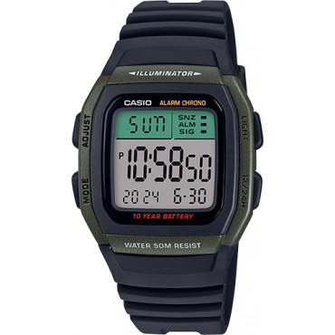 Casio Men's W-96H-3AVCF Classic Digital Display Quartz Black Watch