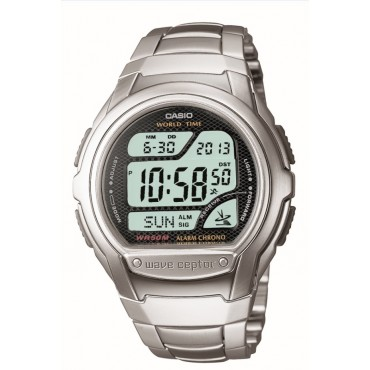 Casio Men's WV58DA-1AV Waveceptor Digital Atomic Sport Watch