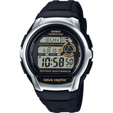 Casio Men's 'Wave Cepto' Quartz Stainless Steel and Resin Watch, Color Black (Model: WV-M60-9ACF)