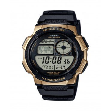 Mens Casio World Time Illuminator Watch