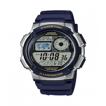 Casio Men's '10-Year Battery' Quartz Resin Watch,(Model: AE1000W-2AV)