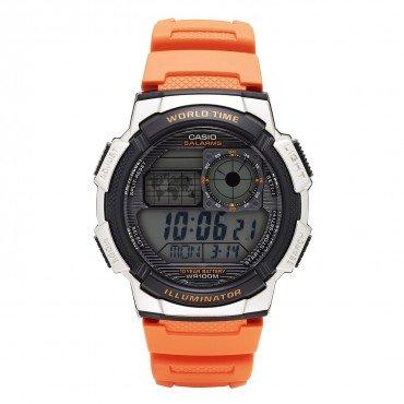 Casio Men's '10-Year Battery' Quartz Resin Casual Watch, Color Orange (Model: AE-1000W-4BVCF)